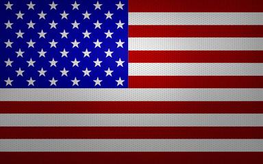 Closeup of USA flag