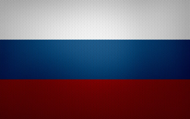 Closeup of Russian Federation flag