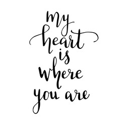 my heart is where you are