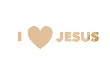 I love Jesus and heart