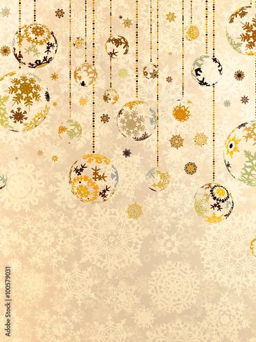 Elegant Christmas Background Images.Elegant Christmas Background With Baubles Eps 8 Stock