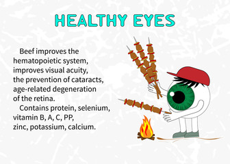 Info about the benefits of beef for eyesight