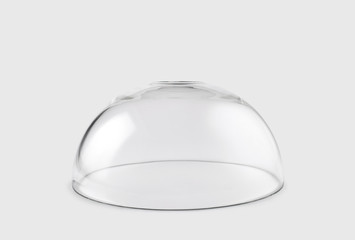Empty transparent glass dome Wall mural
