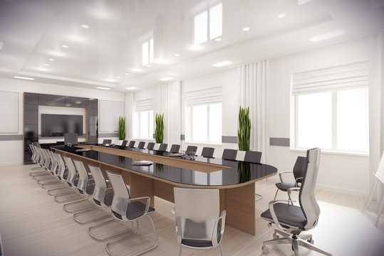 3d render conference hall