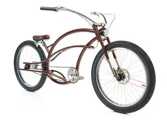 Retro stijl fiets geïsoleerd op een witte