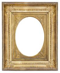 gilded antique frame with vignette