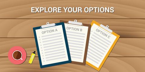 explore your options business problem choice