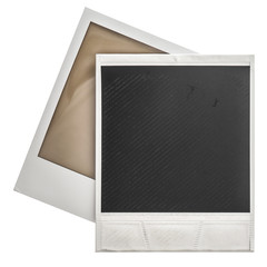 Instant photo frames polaroid isolaten on white
