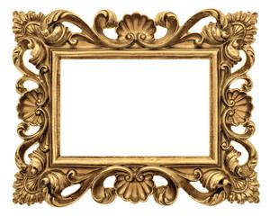 Frame picture, photo, image. Vintage golden baroque object