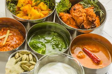 一般的なインドカレー Typical Indian curry set タイトル変更
