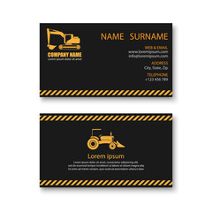 Construction business card template,vector