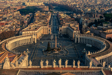 Wall Mural - Aerial view of Vatican City and Rome, Italy