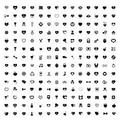 Heartbeat icon set