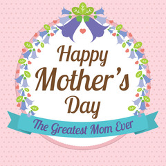 Happy Mother's Day Vector Illustration.