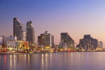 Tel Aviv Skyline. Image of Tel Aviv, Israel during sunset.
