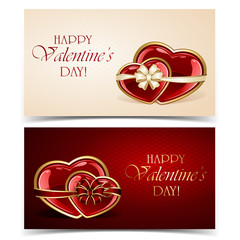 Two Valentines cards