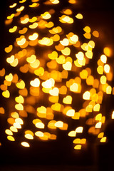 Bokeh yellow glitter Background