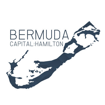 Bermuda map geometric background texture