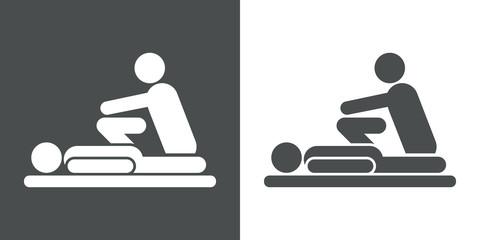 Icono plano fisioterapeuta