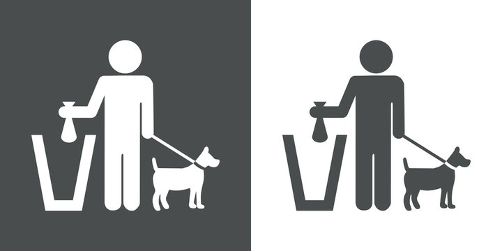 Icono plano excremento canino #1
