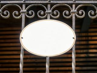 old blank metal sign