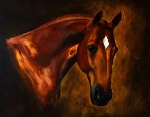 Classical horse portrait painting