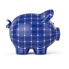 Sparschwein – Solaranlage: Solarenergie, Energie sparen, Sonnenenergie, Solarpanel