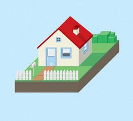 House small. vector illustration