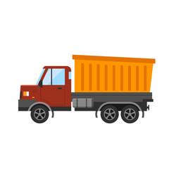Building under construction tripper truck machine