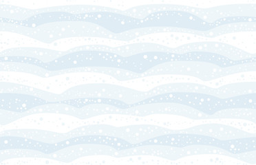 Snowfall - seamless background of the snow covered heaps can be created in all directions. Vector illustration.