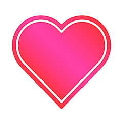 Sweet Heart - Heart Shape With The Color Combination Of Red And Pink