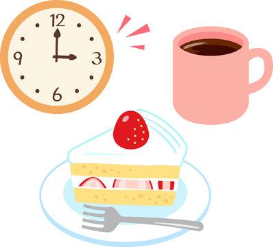 おやつのケーキとコーヒー
