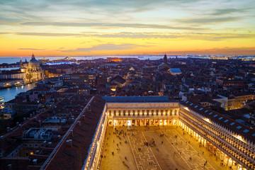 Fototapeta Aerial view of Venice, Italy