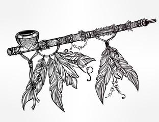 Pagan Indian smoking pipe of peace.
