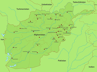 Karte von Afghanistan (detailliert)