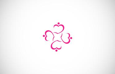 circle love logo vector