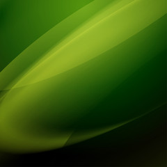 abstract green vector background with blending colors, blur lines and gradient