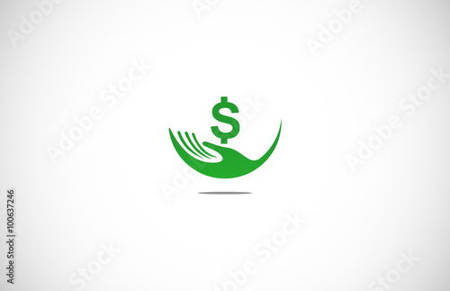 green hand money logo stock image and royalty free vector files on