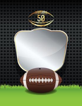 American Football Championship Emblem Illustration