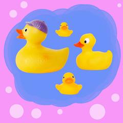 duck tale seamless pattern yellow rubber