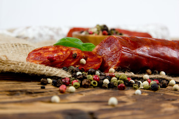 Italian salami with herbs