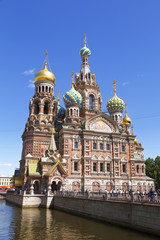 The Cathedral of the Spilled Blood in St. Petersburg, Russia.