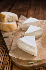 Pieces of Camembert