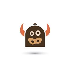 Cartoon Cow Logo