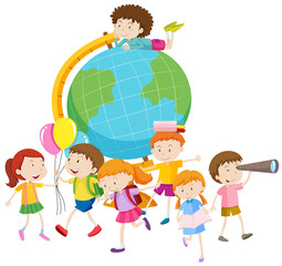 Children and the globe