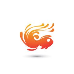 Abstract Fish Logo