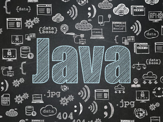 Programming concept: Java on School Board background