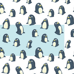 penguins transparent pattern