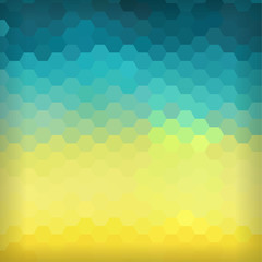 Colorful background made of hexagon elements.