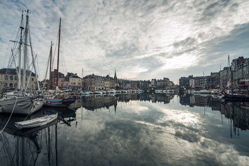 cozy french Honfleur town